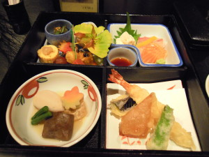 Eating well in Japan.