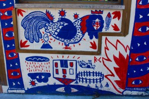 Wall mural art.