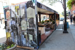 Recycled shipping container.