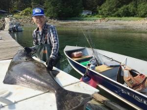 A really nice 80 pound halibut.