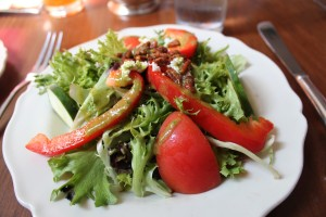 Another great salad at King's Arms Tavern