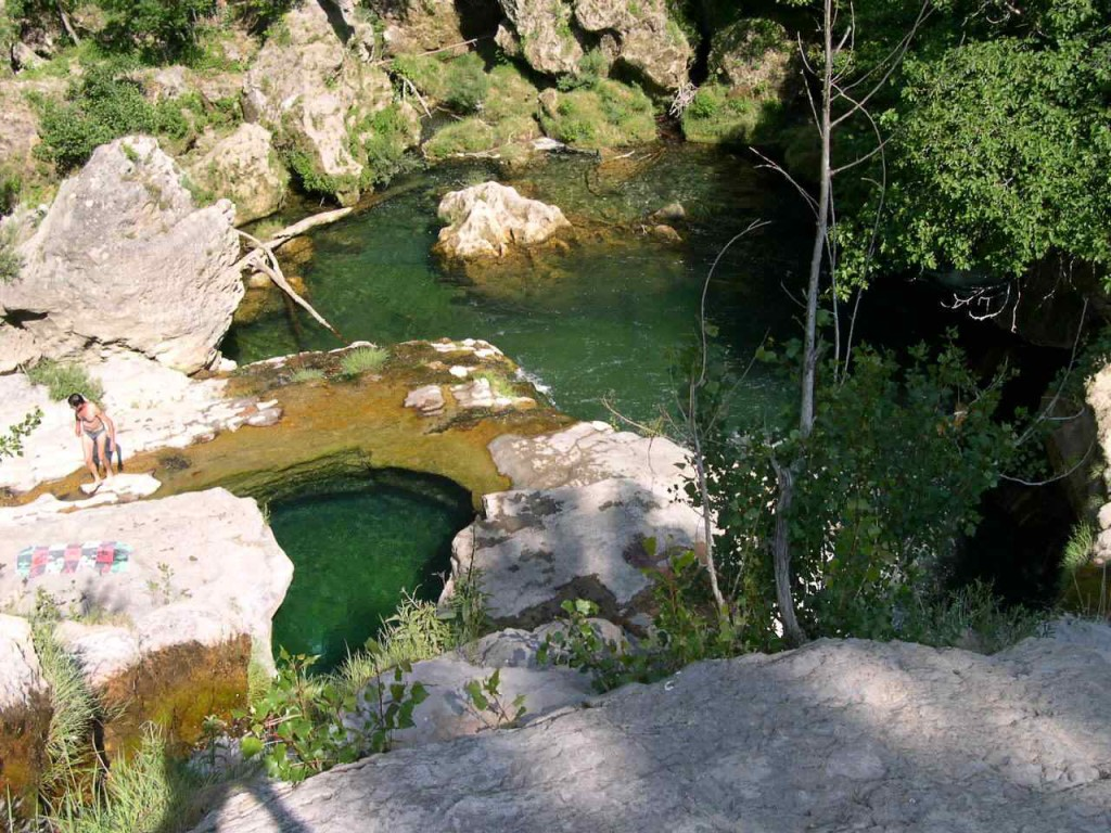 Pool in the village below the Cirque de Navecelle