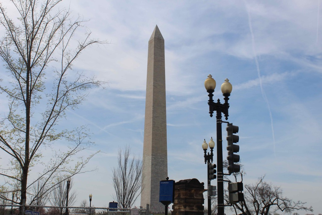 I took this photo of the Washington Monument while stopped at a traffic light