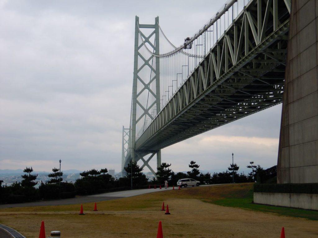 Akashi Kaikyo Bridge from the Awaji Island end