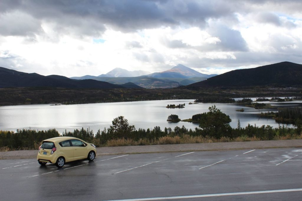 Lake Dillon overlook on I-70 near Frisco, Colorado