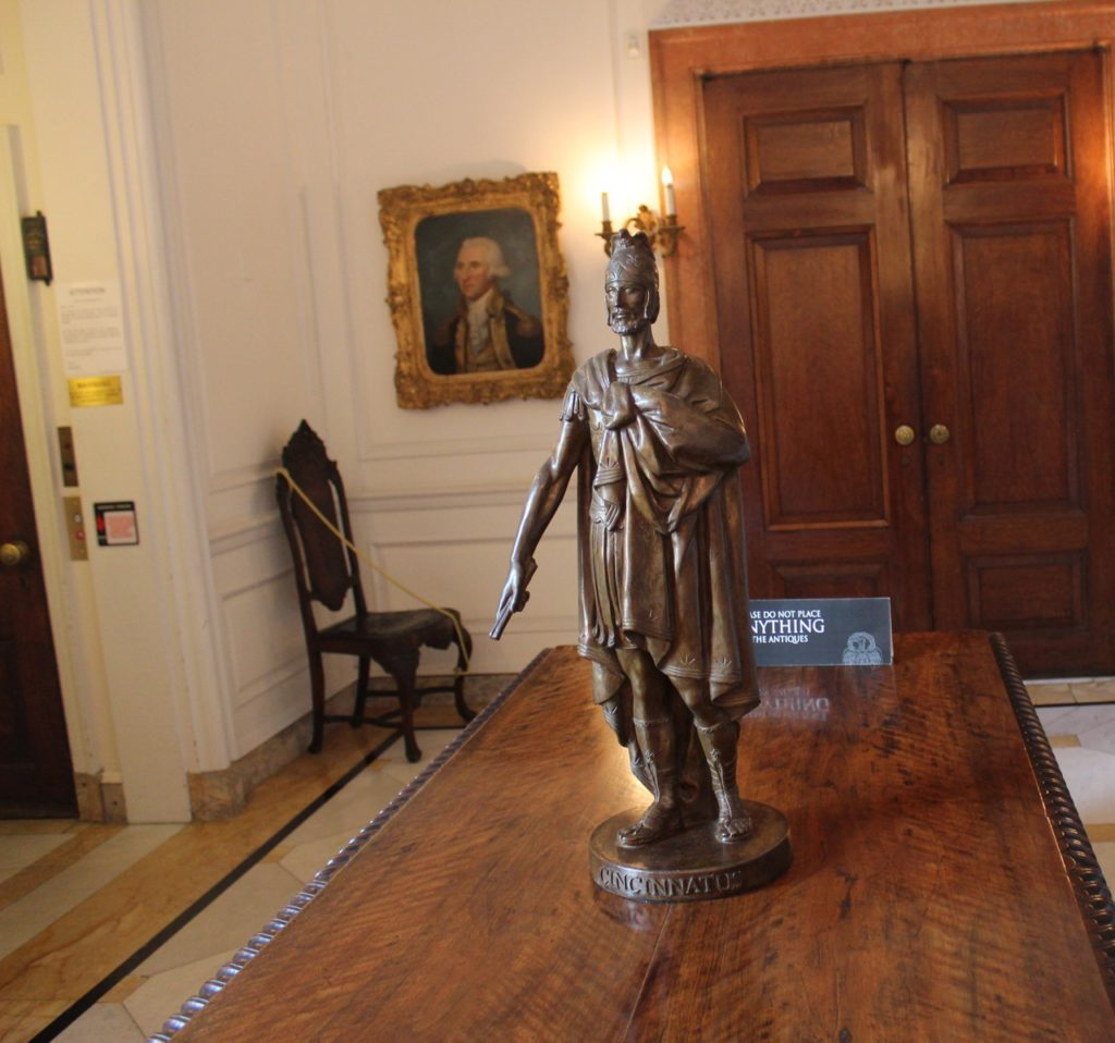 Statue of Cincinnatus inside Anderson House DC