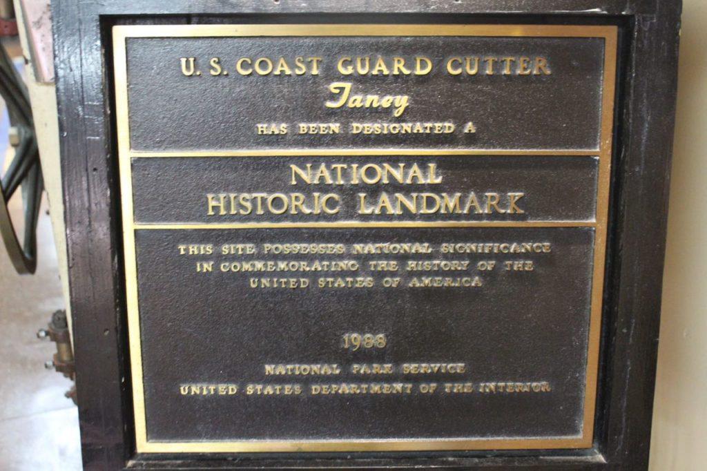 USCGC Taney National Historic Landmark plaque