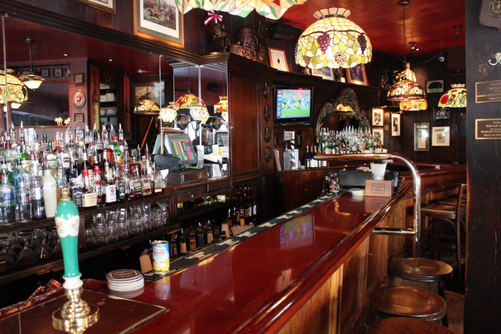 Inside and at the bar in Martin's Tavern
