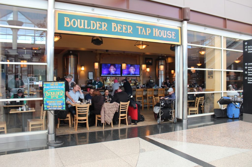 Boulder Beer Tap House outside the security area