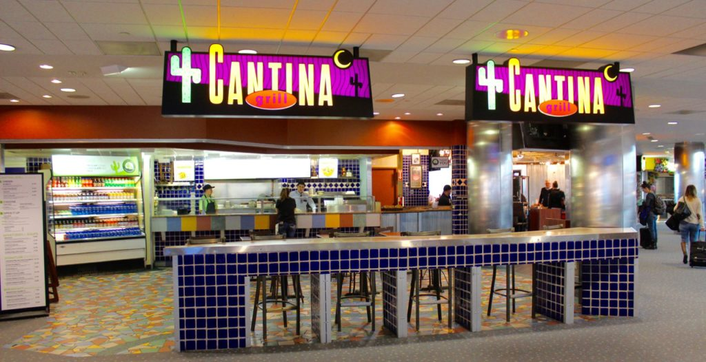 Cantina in the B Terminal upstairs