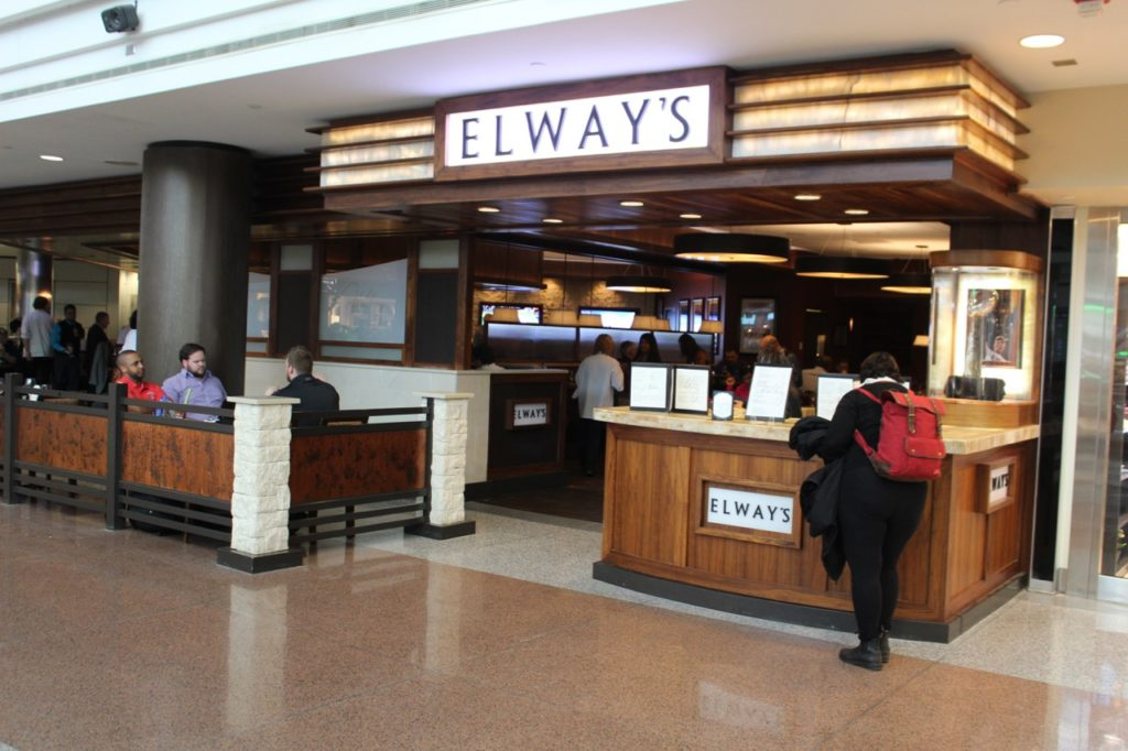 Elway's restaurant in the B terminal