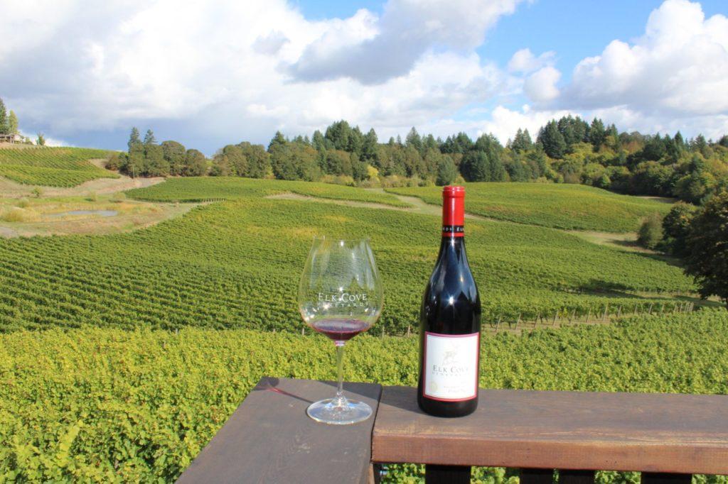 On deck Elk Cove, Wine Exploring Near Portland Oregon